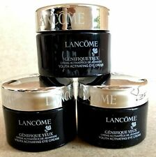 3X LANCOME Genifique Yeux Youth Activating Eye Cream Total 0.6 oz / 18ml NEW