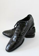 Alexander Wang INGRID Black Croc Leather Lace Up Oxford Loafers Sz 7