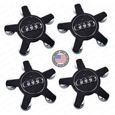 4x Set Black Audi Sport Car Suv Wheels Center Cap Hub 4F0601165N A4 A5 A6 A7 A8