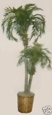 8' Artificial Phoenix 2 Palm Tree Plant Silk Pool Patio Deck Sago Date notpotted