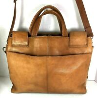 Hobo International Brown Leather Briefcase -Distressed