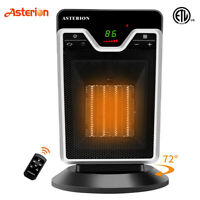 1500W Ceramic Space Heater Oscillating Digital Display Remote Control Thermostat