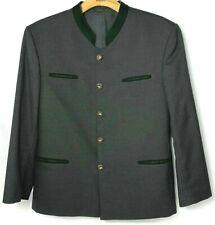 Alphorn Trachtenmode Gray Shurwolle/wool Blend Mens Size 46 Austria Jacket Coat