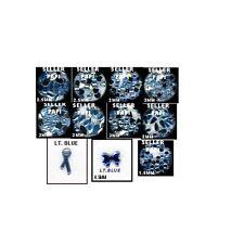 1100 Rhinestones LT. BLUE Mix Shapes lots Jewels Crafts