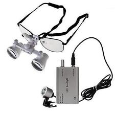 Lenti Di Ingrandimento Dentali LED testa Dental loupes  LED Head light 3.5X420MM