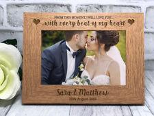 Personalised Wedding Photo Frame Engagement Anniversary Gift Keepsake Mr & Mrs