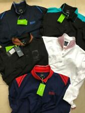 Hugo Boss Polo T Shirts For men Long Sleeve 100% Cotton 5 Styles Slim Fit