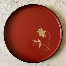 Wajima Nuri Japanese Lacquerware Round Tray - Vintage - NEW IN BOX