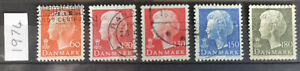Denmark  1974 5 stamps USED