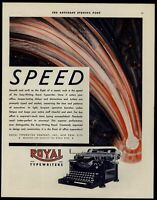 Royal Typewriters 1930 Color Saturday Evening Post Adversitement