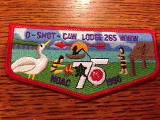 MINT OA Flap 75th Anniversary Lodge 265 O-Shot-Caw Red Border