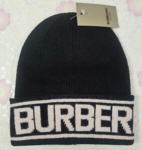 Burberry Beanie Ski Hat Black