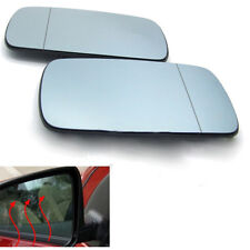 Pair Car Door Mirror Glass Heated Wing Blue Left & Right For BMW X5 E53 99-06