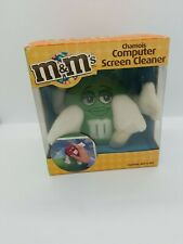 Vintage M&M's Chamois Computer Screen Cleaner Green Collectible