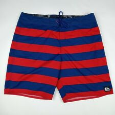 New listing QUIKSILVER Board Shorts Unlined Back Pocket Red Blue Men's Size 40