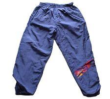 Men's Vintage 80's Blue Shell Suit / Tracksuit Bottoms 34 W / 31 Leg
