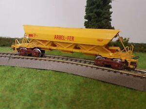 wagon trémie a bogies Arbel fer Jouef ho