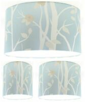 Lampshade Handmade with Laura Ashley Cottonwood Duck Egg Blue Wallpaper FREE P&P