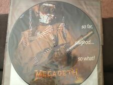 MEGADETH - SO FAR SO GOOD SO WHAT ORIGINAL LP PIC DISC AS NEW MINT NEVER PLAYED