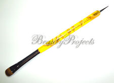 Nail Art Kolinsky French Brush #14 with Dotting Pen High Quality - Yellow Marble