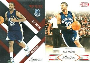HOT SP O.J. Mayo Prestige #D INSERT lot! 2010-11 PP(#/299)/2009-10 BS(#/300)!