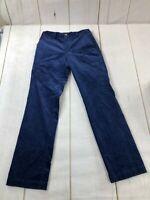 Vineyard Vines Mens Flat Front Mid Rise Straight Blue Corduroy Pants Size 28X32