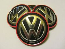 VW Golf 7 VII Clubsport Nabendeckel GTI Rot Nabenkappen 5G0601171 Tiguan Touran