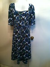 Sax Fifth Avenue Multicolor 3/4th Sleeves Size Large Knee Length Dress