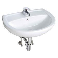 Waschtisch   Set  60 cm Waschbecken Siphon Armatur Einhebelmischer Eckventile