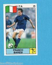 SUPERSPORT 1988-PANINI 88-Figurina n.25- BARESI - ITALIA - CALCIO -Rec