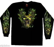 T-Shirt ML GLOW SKULL - Taille L - Style BIKER HARLEY