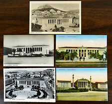 University & Academy ATHENS GREECE 5 Postcards 2 are real photo ca.1920's-1948