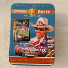 Metallic Impressions Richard Petty Embossed Collector Cards Tin Set NASCAR
