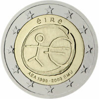 """Ireland 2 euro coin 2009 """"10th Anniversary of the Introduction of the Euro"""" UNC"""