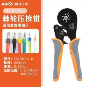 IWISS HSC816-6 0.08-16mm2 Crimping Tools Pliers Mini Clamp Ferrule Crimping Tool