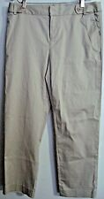 WORKSHOP ANDREA JOVINE CASUAL WOMEN'S PANTS-SIZE 10-BEIGE COLOR-COTTON BLEND NWT