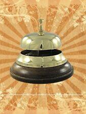 Campana de Hotel Mesa Reservada para Clientela Habitual Timbre Latón Madera Pie