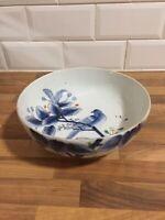 Antique Japanese Large Blue & White Bowl Aoki Brothers Meiji ?