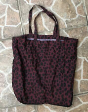 Bimba Y Lola Large Nylon Leopard Tote Shopper Bag In A Zipper Case!