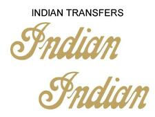 Indian Tank Transfer Decal American Motorcycle Pair D50928 Gold Large