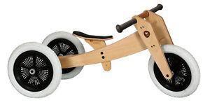Original Wishbone Bike 3in1 Laufrad classic Holz - 1 bis 6 Jahre NEU + SOFORT !!