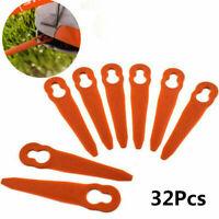 32pcs Plastic Cutter Blades For Stihl PolyCut 2-2 FSA 45 Lawn Mower Trimmer