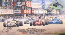 1971 BRM P160 mars TYRRELL 002 & SURTEES F1 Monza couvrir signé Peter Gethin