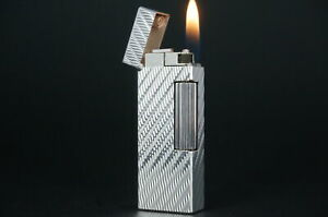 Dunhill Rollagas Lighter  Waves Silver plated Working #W13