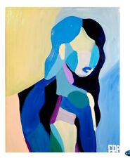 CORBELLIC EXPRESSIONIST NUDE WOMAN PAINTING MODERNISM DECOR LARGE CANVAS ART NR