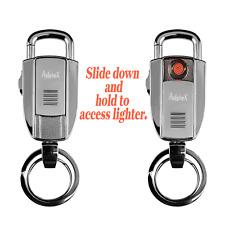 Multifunctional Cigarette Lighter Wind Resistant Keychain USB Ring Zinc