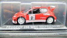 MODELLINO AUTO PEUGEOT 206 WRC 1:43 RALLY RALLYE CAR MODEL MINIATURE DIECAST IXO