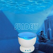 Blue Ocean Night Projection Light Calming Wave Lighting Projector Lamp Music LED