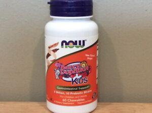 Now Foods Berry Dophilus Kids Gastrointestinal Support 60 Chewables Exp. 04/2022