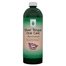 Silver Tongue Oral Care Mouthwash, 32 oz.